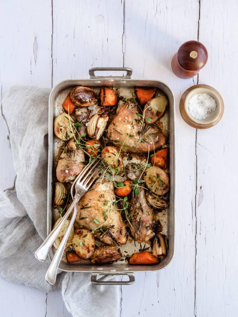 Kyllingelår i ovnen
