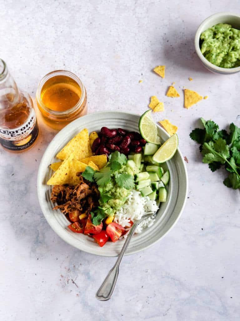 Mexi bowl med grøntsager og bønner