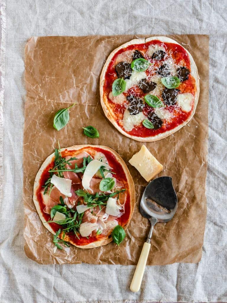 Tortilla pizza opskrifter med fyld