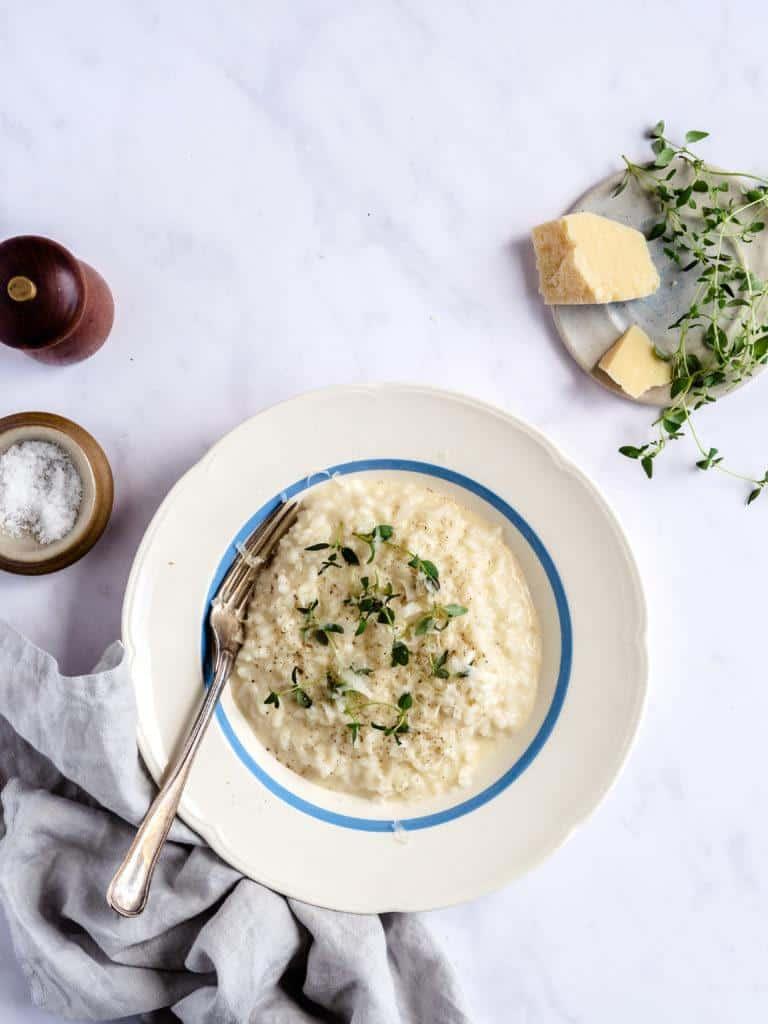 den bedste italienske risotto med parmesan