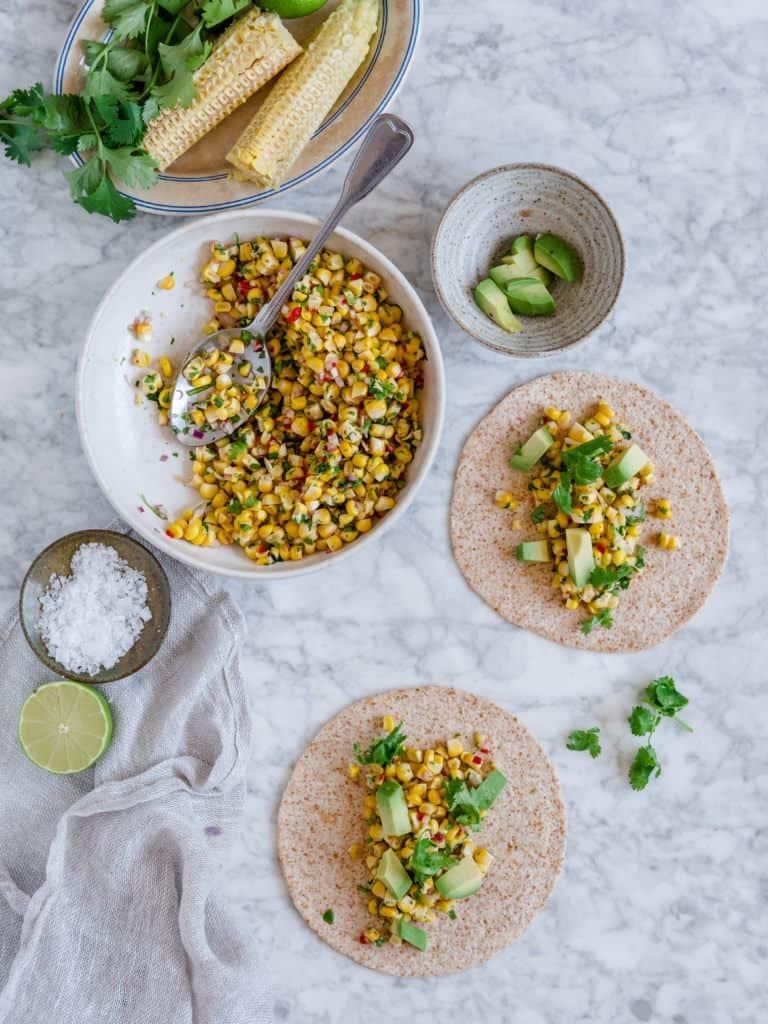tacos med majssalsa