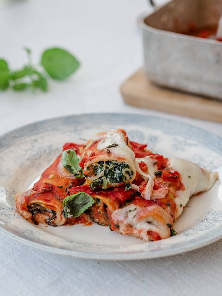 Cannelloni med spinatfyld