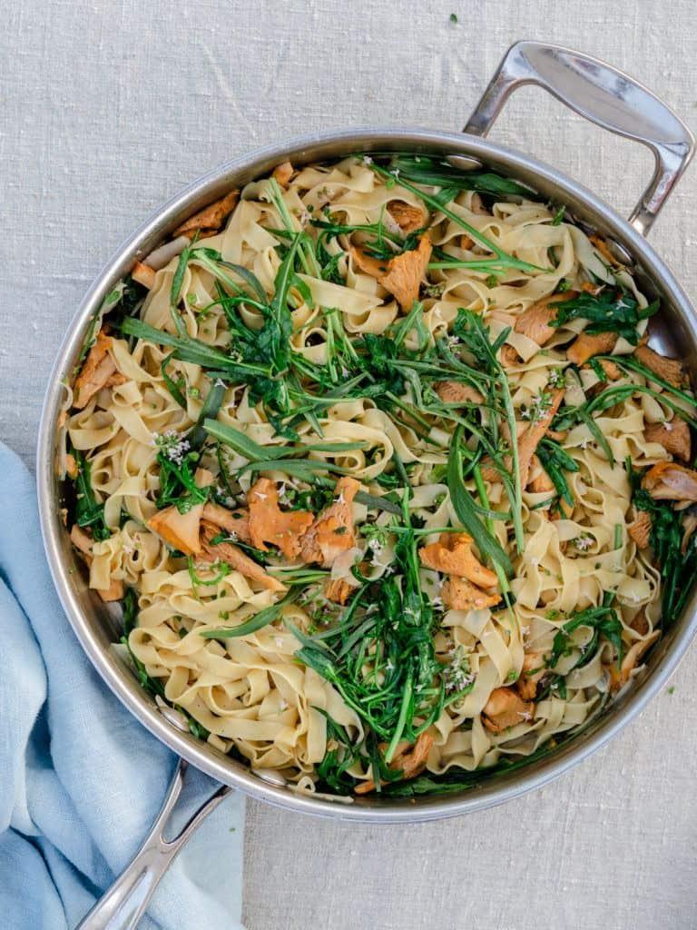 Frisk pasta med kantareller