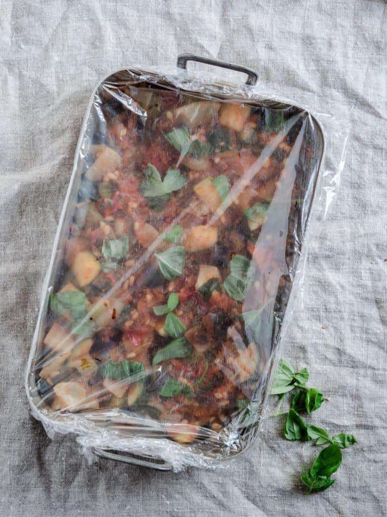Opskrift på siciliansk Caponata med aubergine