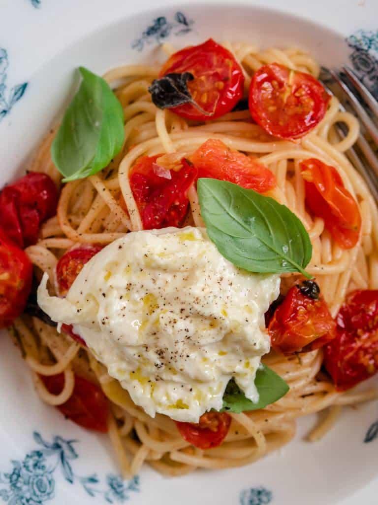 Pasta med bagte tomater