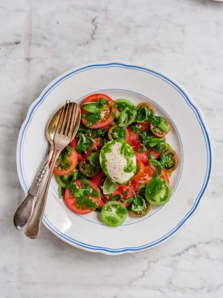 Burrata med tomater