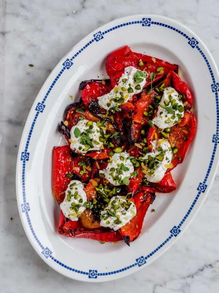 Grillede peberfrugter med ricottacreme
