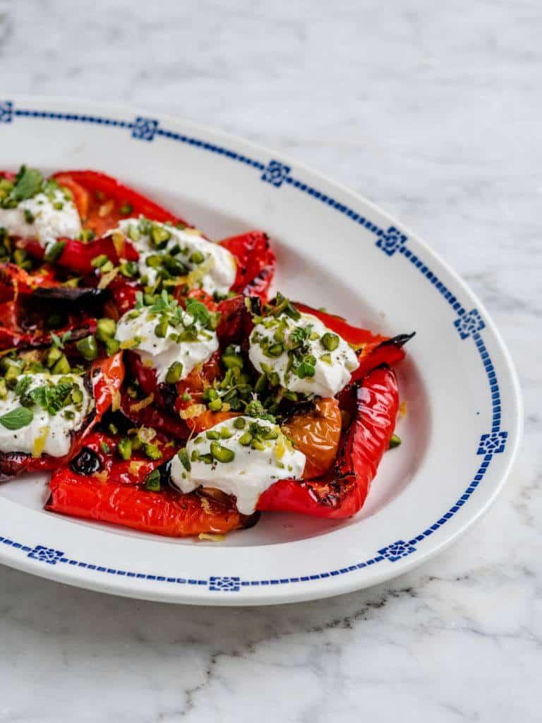 Grillede peberfrugter opskrift