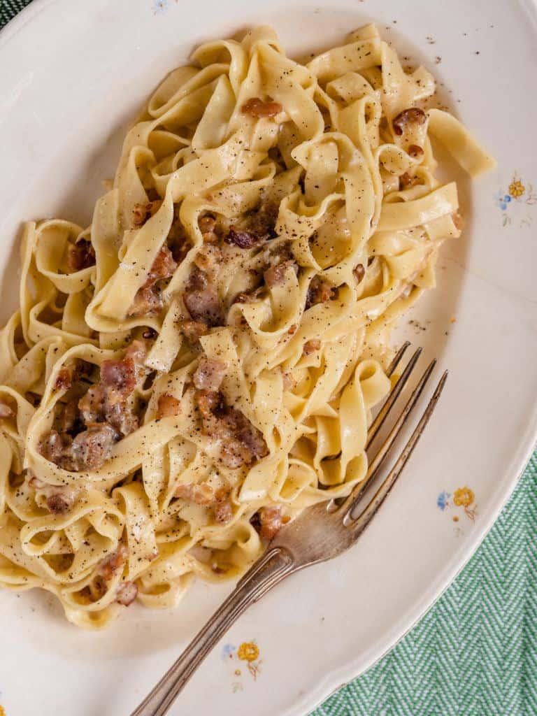 Pasta Carbonara med bacon