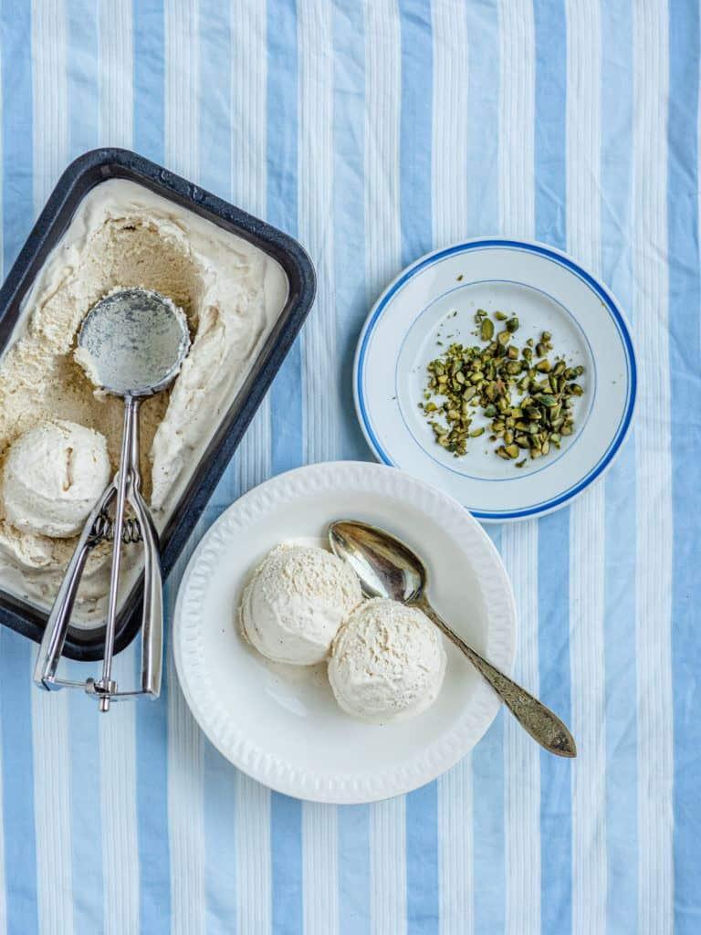 vaniljeis til dessert