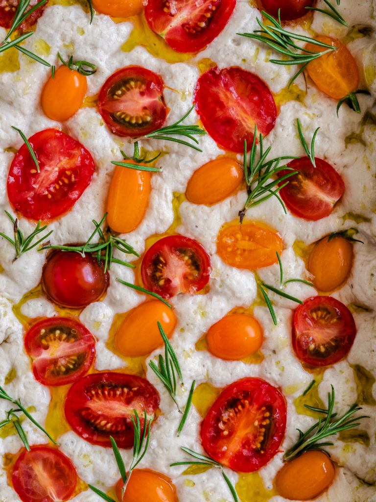 Foccacia med tomat