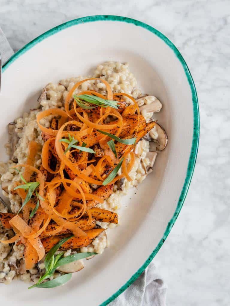 svampebygotto med gulerødder