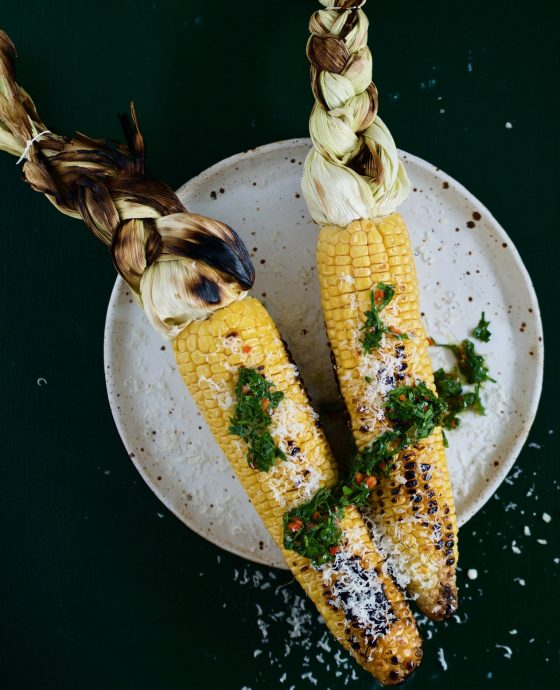 Grillede majs