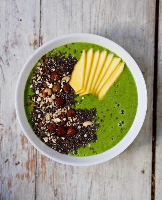 Greenie med spinat og avokado
