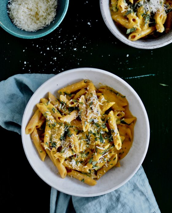 Pasta gulerodssauce med estragon