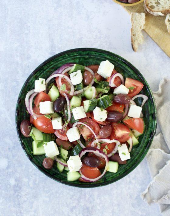 Græsk salat med feta