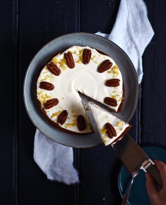 Græskarkage med creame cheese frosting