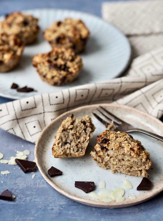 Havregrynsmuffins med chokolade - uden sukker